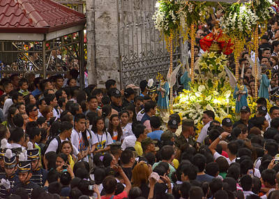 This Is The Philippines No.65 - Santo Nino Entering The Basilica Art Print by Paul W Sharpe Aka Wizard of Wonders