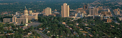This Is The State Capitol And Skyline Art Print by Panoramic Images