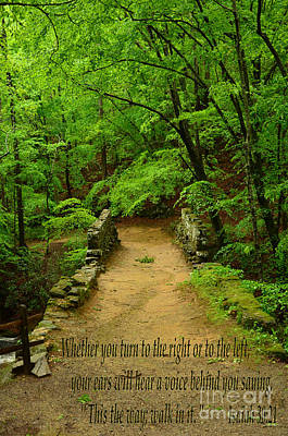 Photograph - Isaiah 30 - This Is The Way by Bob Sample