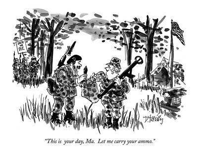 Camouflage Drawing - This Is  Your Day by Donald Reilly