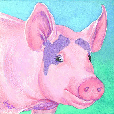 Painting - This Little Piggy by Ann Ranlett
