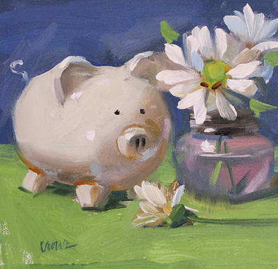 This Little Piggy Art Print by Judy Crowe