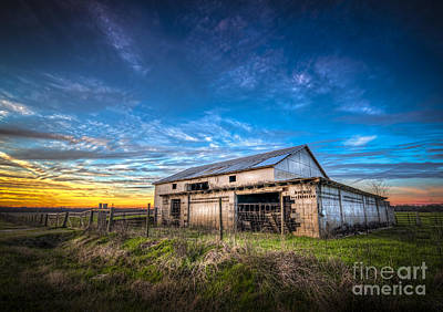 Wooden Fence Post Photograph - This Old Barn by Marvin Spates