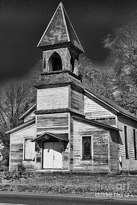 This Old Church In Black And White Art Print by Paul Ward