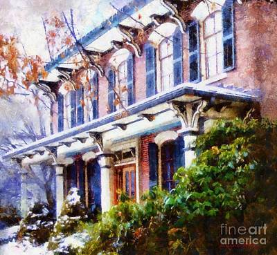 Photograph - This Old Colonial House  by Janine Riley