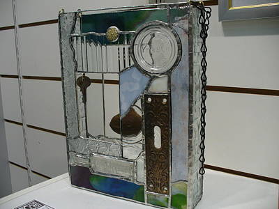 Glass Art - This Old House by Karin Thue