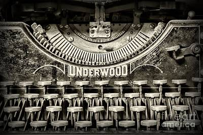 Typewriter Keys Photograph - This Old Typewriter by Paul Ward