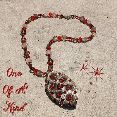 Jewelry Photograph - This One Of A Kind Necklace Is Made by Teresa Mucha