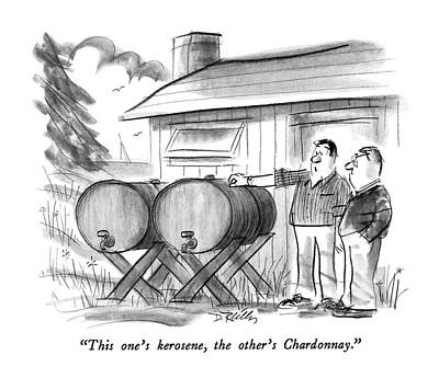 Wine Drawing - This One's Kerosene by Donald Reilly