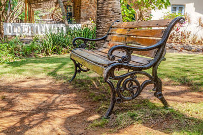 Photograph - This Park Bench by Kantilal Patel