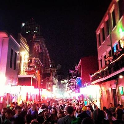 New Orleans Photograph - This Place Is Heaven #bourbon #street by Tom Penn