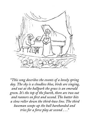 Concert Drawing - This Song Describes The Events Of A Lovely Spring by Sidney Harris