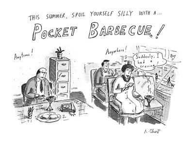 Barbecue Drawing - 'this Summer by Roz Chast