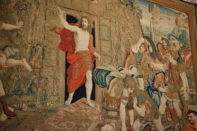 Vatican Photograph - This Tapestry Is Of The Resurrection by Jan and Stoney Edwards