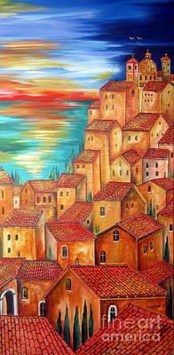 This Village Is In My Fantasy Art Print by Roberto Gagliardi