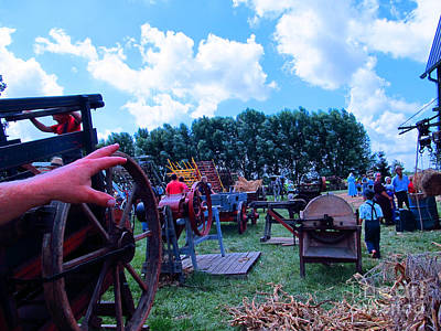 Mennonite Community Photograph - This Way To Hay by Tina M Wenger