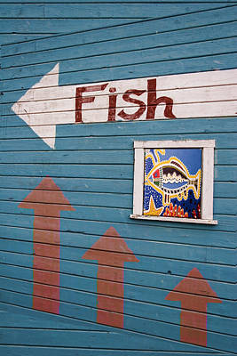 This Way To The Fish Art Print by Carol Leigh
