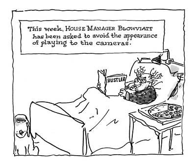 Starr Drawing - 'this Week, House Manager Blowviatt by George Booth