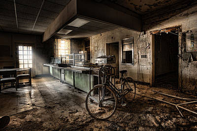 This Would Be The End - Cafeteria - Abandoned Asylum Art Print by Gary Heller