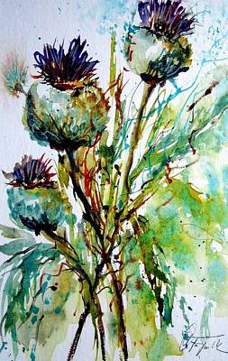 Painting - Thistle by Christa Friedl