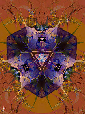 Abstract Beach Landscape Digital Art - Thistle Crest by Jim Pavelle