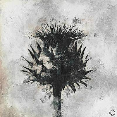 Gun Legler Digital Art - Thistle by Gun Legler