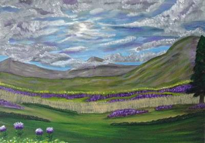 Art Print featuring the painting Thistles And Fields by Scott Wilmot