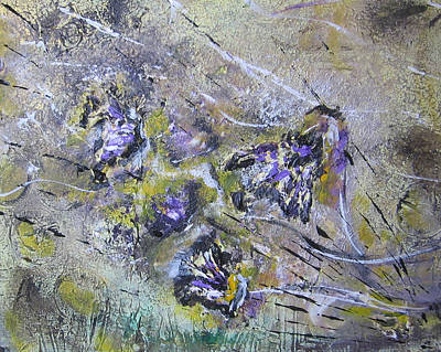 Thistles In The Mist Art Print