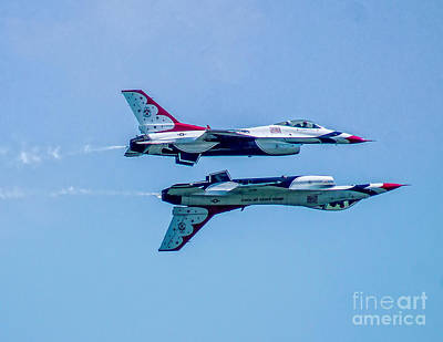 Photograph - Thnderbirds Inverted by Nick Zelinsky