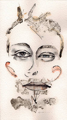 Thom Yorke Painting - Thom Yorke As Thom Yorke by Mark M  Mellon