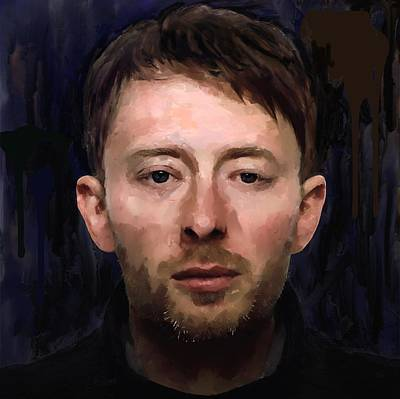 Thom Yorke Digital Art - Thom Yorke by Les Allsopp