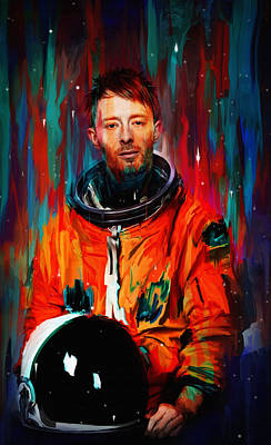 Thom Yorke Digital Art - Thom Yorke by Nicebleed