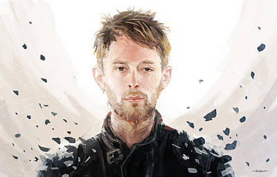 Thom Yorke Digital Art - Thom Yorke by Sergey Su