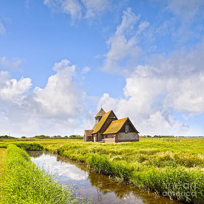 Romney Photograph - Thomas A Becket Church Romney Marsh by Colin and Linda McKie