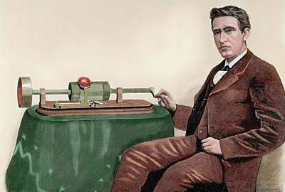 Thomas Alva Edison (1847-1931 Art Print