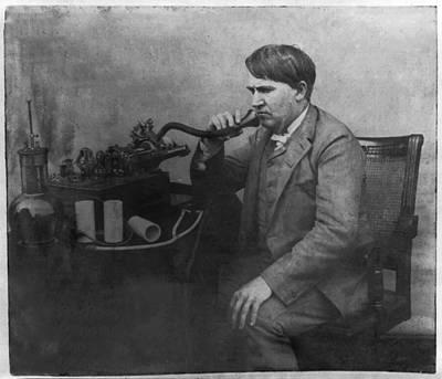 Thomas Alva Edison 1892 Art Print by Bill Cannon