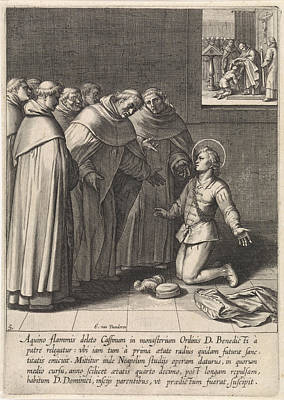 Dominican Drawing - Thomas Aquinas Joined The Dominican Order by Quint Lox