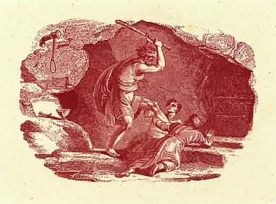 Bewick Drawing - Thomas Bewick, British 1753-1828, Murder Scene by Litz Collection