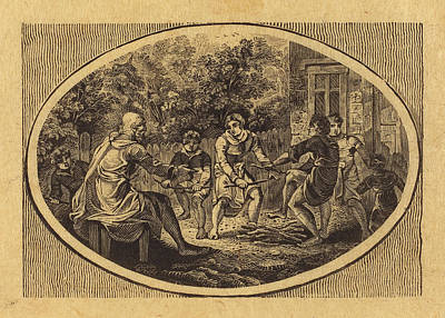 Thomas Bewick British, 1753 - 1828, The Boasting Traveler Print by Quint Lox
