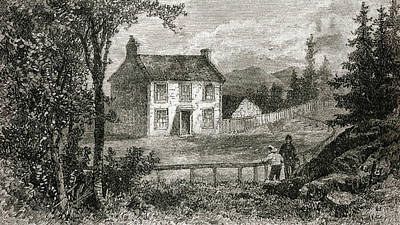 Fence Drawing - Thomas Carlyle  Scottish Writer's by Mary Evans Picture Library