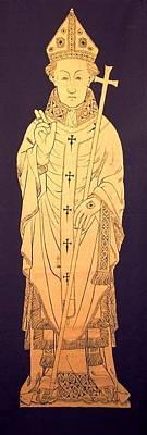 Brass Rubbing Tapestry - Textile - Thomas Cranley  Archbishop Of Dublin by William Streett