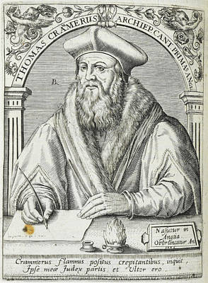 Clergy Photograph - Thomas Cranmer by British Library