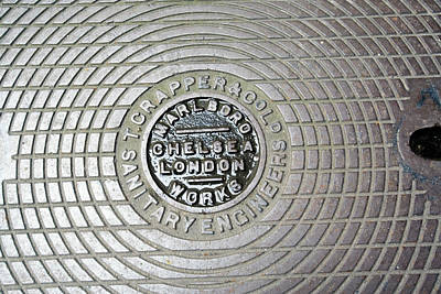 Thomas Crapper Manhole Cover Art Print by Adam Hart-davis/science Photo Library