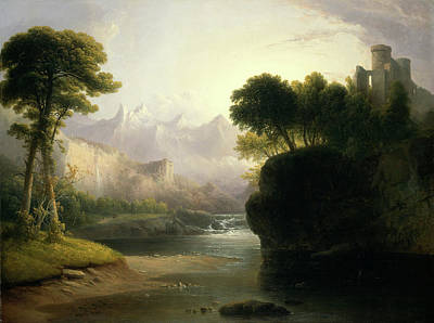 Thomas Doughty, Fanciful Landscape, American Print by Litz Collection