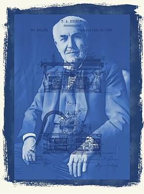 Thomas Edison Art Print by Dan Sproul