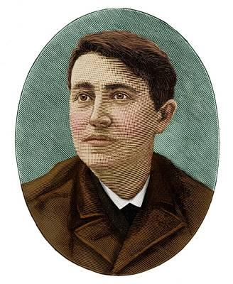 Thomas Alva Edison Photograph - Thomas Edison by Maria Platt-evans
