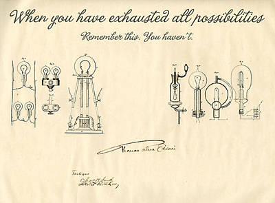 Thomas Edison Quote Art Print by Gina Dsgn