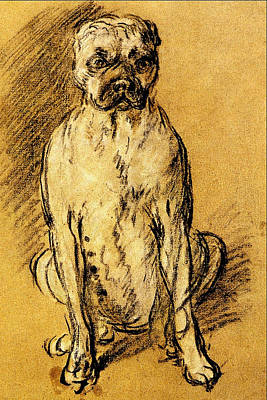Thomas Gainsborough Bulldog Study Art Print by