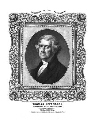 Thomas Jefferson Print by Aged Pixel
