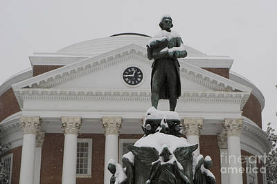 State Love Nancy Ingersoll - Thomas Jefferson and The Rotunda in the Snow by Jason O Watson